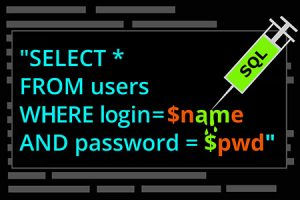 SQL injection attack on code